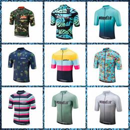 Mode radfahren trikot online-NEUER Morvelo Team populäre Art und Weisesommerart, die kurzes Hülsen Jersey im Freiensportsporthemd 61303 radfährt