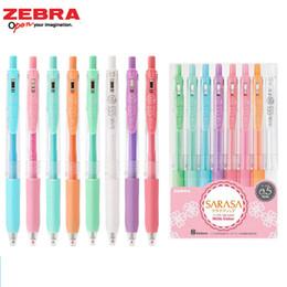 Färbung gel-stifte online-8 Farben Zebra Sarasa Clip 0,5mm Kugelschreiber Japanische Gelschreiber zum Färben von Rollerball Water Aalen Pigment Schreibwaren Kawai