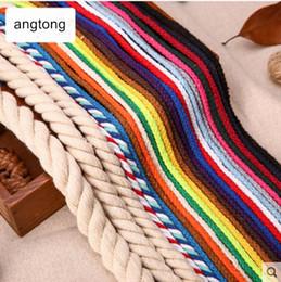 10 metros / lote de diâmetro 5mm 10mm 15mm algodão puro tecido de algodão corda, feixe de cordas, fio de ligação, acessório artesanal DIY T498 de