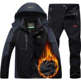 зимняя лыжная куртка мужская водонепроницаемая Скидка CCIVICFREE мужчины водонепроницаемый куртка брюки открытый поход пешие Hunnting куртки мужские зимние тепловой флис Сноуборд лыжный костюм