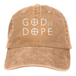 2019 Nuevo diseñador Gorras de béisbol Imprimir Hat God is Dope Mens  algodón Ajustable Lavado Twill Gorra de béisbol sombrero d8b9c57ae0c