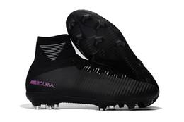 Nuove scarpe da calcio Scarpe da calcio originali blu ghiaccio Mercurial Superfly V SX Neymar Scarpe da calcio di alta qualità Cristiano Ronaldo da