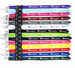 Роскошные дизайнерские ремешки C Письмо печати спортивные бренды телефон ремни брелок строки ID карты баскетбол талреп подвески LJJA2485 от