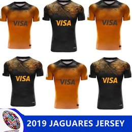 2019 2020 JAGUARES Home away rugby Jerseys New Zealand Jaguares pullover di rugby giallo top quality JAGUARES magliette da rugby taglia S-3XL cheap yellow spandex shirt da camicia spandex gialla fornitori