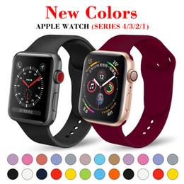 Banda deportiva de reemplazo de silicona suave para 38mm Apple Watch Series1 2 42mm Pulsera pulsera Correa para iWatch Sports Edition desde fabricantes