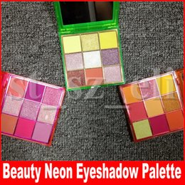Ombres à paupières vertes en Ligne-Maquillage des yeux Palette Vert Orange Rose Shimmer Matte 9 couleurs de fard à paupières palette d'ombres à paupières 3 Styles