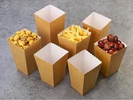 fast-food-pakete Rabatt Einweg-Popcorn-Becher aus Kraftpapier Snack-Pappschachtel Pommes-Schachtel Fester Fast-Food-Dickbehälter Kinopaket-Becher