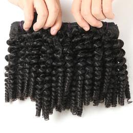 Funmi Kıvırcık Örgü 3 Demetleri, Malezya 9A Kısa Kıvırcık Örgü Funmi Saç Demetleri Teyze Funmi Saç Kabarık Bukleler İnsan Saç Kısa Bob Tarzı supplier curly human hair styles nereden kıvırcık insan saç stilleri tedarikçiler