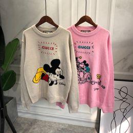 camisolas bonitos dos desenhos animados da mulher Desconto 2020 mulheres tricotar camisas blusa outwear letras das mulheres camisolas em desenhos animados bonitos frente