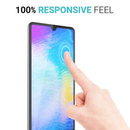 2019 autocollant de peau galaxie Pour Huawei P30 Pro Mate 20X 20 Pro Protection d'écran En Verre Trempé Protection Verre 3D Pleine Couverture