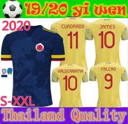 Kolumbien fußball trikot männer online-Thai Qualität America 's Cup 20 20 Kolumbien Fußball-Trikot 2020 2020 JAMES FALCAO CUADRADO Männer Fußball Jerseys Hemd camisetas de futbol