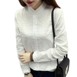 2019 корейские блузки Cotton Shirt White Blouse 2019 Korean Spring Autumn Blouses Shirts Women Long Sleeve Casual Tops Solid OL Office Blusas скидка корейские блузки