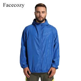 dddaf0eca4c2 Facecozy Summer Men Women Outdoor Waterproof Skin Jacket Fishing Breathable  Solid Coat Anti-UV Quick Dry Camping Hiking Clothing