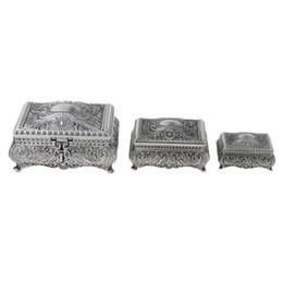 MagiDeal en alliage de zinc princesse reine antique fleur gravure boîte au trésor vitrine de stockage de bijoux affichage ? partir de fabricateur