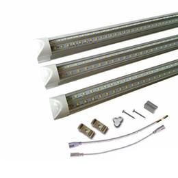 2019 tubos de plástico leve 150CM T8 Lâmpadas LED V em forma de tubo de LED dois pés 4 pés 5 pés 6 pés 8 pés 8 pés LED integrado tubo de substituição Luz Lâmpada fluorescente AC85-265V