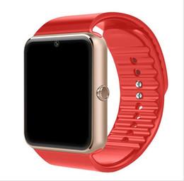 Mejor android smartwatch online-GT08 Smart Watch Phone Mejor Smartwatch 2019/2018 Tarjeta SIM Tarjeta TF Cámara Smart Clock para Apple Watch Iphone Android