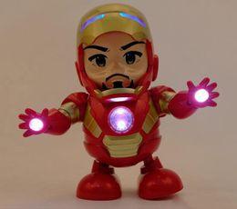 Железные аккумуляторы онлайн-Новые Marvel Avengers 4 Endgame Super Heroes танцуют Железный Человек С музыкой Мех Модель Фигурку Игрушки не содержат батарею