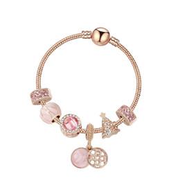 2020 pulseiras de fantasia para as mulheres 2019 mais novo Rose presente do Natal do ouro 925 prata Beads Europeu encanto pulseiras Chamilia Beads For Women Jóias Decoração Fantasia desconto pulseiras de fantasia para as mulheres