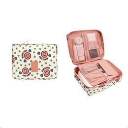 2019 kit da fiore Hifuar Cute Cherry Cosmetic Bag Donna Necessaire Flower Make Up Bag Kit da toilette portatile impermeabile da viaggio sconti kit da fiore