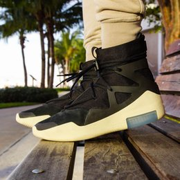2019 tênis de marca de luxo mens Air Fear de Deus 1 botas designer de moda de luxo 2018 marca homens tênis de corrida tn tênis para mens formadores nova chegada sneaker desconto tênis de marca de luxo mens