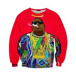 biggie smalls pulôver Desconto Nova camisola Hoodies Homens Mulheres 3D Imprimir Rapper Notorious B.I.G. Biggie Smalls Tupac 2pac 3D Streetwear Sleeve Agasalho Pulôver B111