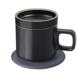 Tazze di caffè giapponesi online-Smart Wireless di ricarica 55 ° C Thermos Tazza elettrica Tazza di caffè Stile giapponese Tazze Ceramica Tazza di caffè Set di bicchieri