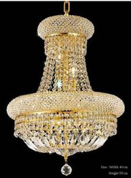 French Empire Gold Crystal Chandelier Chrome Chandeliers Lighting Modern Chandeliers Light + Free shipping! desde fabricantes