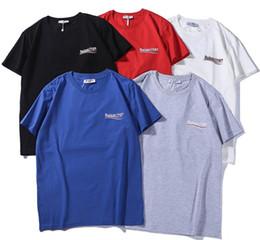 2019 vestido de transporte rápido 2019 verão Marca Mens camisas das mulheres T Imprimir Carta Balenciaga de algodão de Manga Curta Casual top Tees Mens Roupas S-2XL