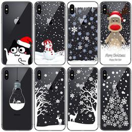 Argentina TPU suave casos de silicona teléfono Coque Feliz Navidad de Santa Claus Feliz Año Nuevo para el iPhone 5 5S 6S SE 6 7 8 X Plus Coque Shell Suministro