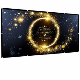 Киноэкраны онлайн-OWLENZ 100-дюймовый проекционный экран 16: 9 HD Складной анти-складной портативный проектор Фильмы Экран для домашнего кинотеатра на открытом воздухе Крытый
