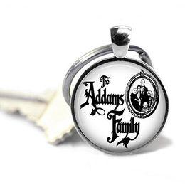 Nouvelle mode la famille Addams fob, accessoires de bijoux cadeau dôme en verre d'argent porte-clés anneau ? partir de fabricateur