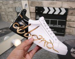 2019 botas de aço azul Dolce & Gabbana D&G Shoes  Alta top marca designer sneaker casual sapato low top sneaker de couro de alta qualidade tênis para homens e mulheres por shoe04 1303