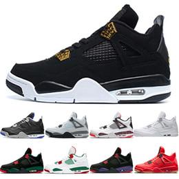 13 colori online-AriaGiordaniaScarpe da pallacanestro da uomo retrò 4 OG Bred For 2019 2019 Sneaker da uomo atletica leggera color grigio chiaro Citron