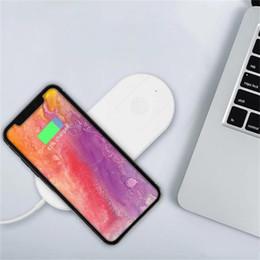 2019 qi chargeur sans fil dock pad de charge Qi chargeur sans fil charge rapide pour Apple Watch 3 Iwatch Iphone X 8 plus 2 en 1 rapide Pad sans fil Pad Dock Adaptateur qi chargeur sans fil dock pad de charge pas cher