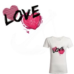 2019 novo coração vermelho patch de amor para roupas 24 * 16.8 cm ferro em remendos diy criança t-shirt adesivo de transferência térmica de