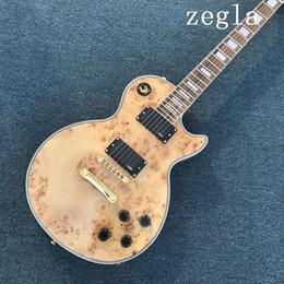 Argentina Guitarra eléctrica personalizada de alta calidad dorada, Guitarra Archtop de cuerpo semi hueco, Color natural, Tapa de arce espumado, Foto real Suministro