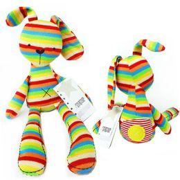 2019 jouets mamas papas 50 cm arc-en-lapin avec étiquettes Mamas Papas irisé bébé lapin pour bébé chiffres en peluche jouets Mamas et papas lapin pour enfants