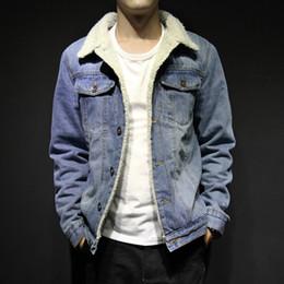 2020 gli uomini caldi jeans invernali Huation 2018 uomini inverno Parka lana spessa giacca di jeans caldo cappotto uomo abbigliamento casual slim giacche Jean soprabito casaco masculino sconti gli uomini caldi jeans invernali