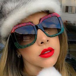 2019 lunettes de soleil lunettes élégant Lunettes de soleil de marque de luxe Vidano Optical pour femmes élégantes lunettes de mode de la rue carrée multicolore lunettes oculos de sol lunettes de soleil lunettes élégant pas cher