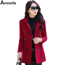 2019 donna carriera carriera nero Donne blazer e giacche alla moda 2019 Plus Size M-3XL Doppio Petto Button Blazer Cappotto invernale Blaser Femenino Y466