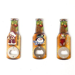 apri di bottiglia di natale Sconti Creativo di legno Bottiglia di Natale del pupazzo di neve Opener Beer Bottle Opener durevole frigorifero autoadesivi magnetici di casa Utensili da cucina TTA2146-1