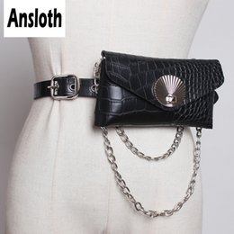 2019 senhoras carteiras de moda Ansloth Moda Serpentina Sacos De Cintura De Couro Para As Mulheres Cinto Sacos de Ombro Cadeia Senhoras Pacote de Cintura Pequena Carteira HPS491 desconto senhoras carteiras de moda