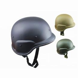 Capacetes de motocicleta do exército on-line-Sólido M88 ABS Plástico Camuflagem Tactical Capacete Ao Ar Livre CS Campo de Combate Do Exército Motos Capacetes Da Motocicleta Livre Sze