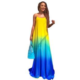d614ba477dd Large Size Gradient Vestidos Women Sundress Boho 2019 Summer Casual Chiffon  Evening Party Beach Long Maxi Dress
