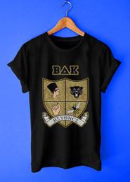 Emblème s en Ligne-Beyonce BAK Style Logo Emblème Musique Style Tee-shirt Noir Pour Hommes Casual S-3XL