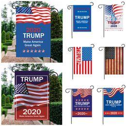 2019 bandiere decorativi da giardino Trump 2020 30 * 45cm Bandiera da giardino 12 colori American President Election Guide Banner Trump 2020 bandiera da giardino decorativa per esterno BH2026 TQQ bandiere decorativi da giardino economici