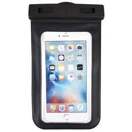 Auricolari a prova d'acqua online-Custodia impermeabile nera per iPhone 7 6 6s Custodia per braccio con custodia impermeabile per auricolari per telefoni cellulari Samsung