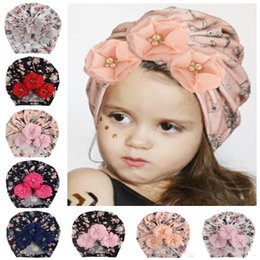 UK Toddler Baby Girl Flower Hair Band Headband Headwear Photo Prop Beanie Hat AB