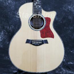 Guitarras con incrustaciones de abulón online-Starshine Guitarra acústica eléctrica de alta calidad ZZ-TY16 40 B-Band Ebony Fingerboard Solid Top Abalone Inlay