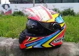 nuovi caschi fuori strada Sconti Nuovo casco del motociclo SHOEI doppia lente off-road racing cavallo caldo moto casco casco integrale
